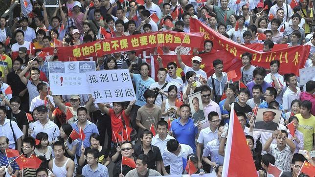 [China vs Taiwan vs Japón] Disputa territorial en las islas Senkaku/Diaoyu Protestas-china-japon--644x362