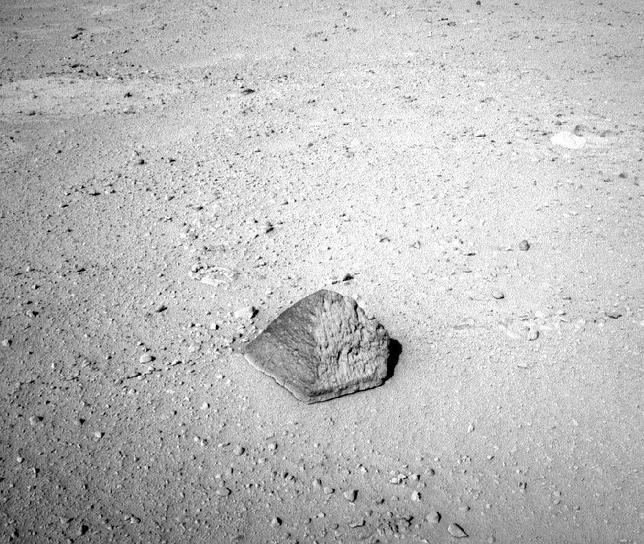 El Curiosity halla una rara roca en Marte