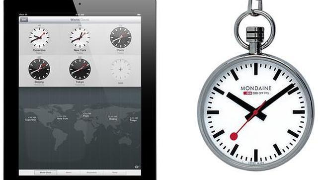 Suiza acusa a Apple de plagiar el diseño de los nuevos relojes que aparecen en el iPad