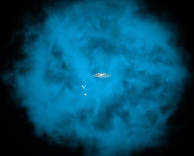 Un gigantesca nube de gas ardiente envuelve la Vía Láctea