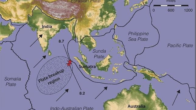 Los expertos temen «monstruosos terremotos» en Asia por la ruptura de la placa tectónica bajo el Índico