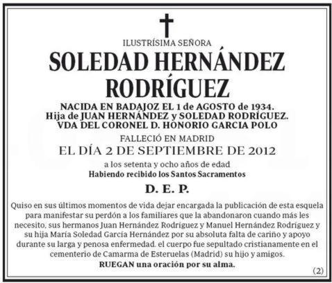 La esquela de Soledad, hoy en ABC: «Perdón para los familiares que ...