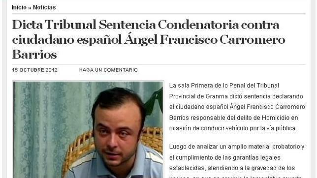 Carromero, condenado a cuatro años de cárcel por la muerte de Oswaldo Payá