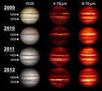 Júpiter sufre cambios brutales