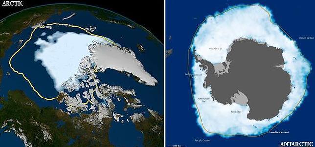 Polos opuestos: La Antártida crece mientras el Ártico encoge