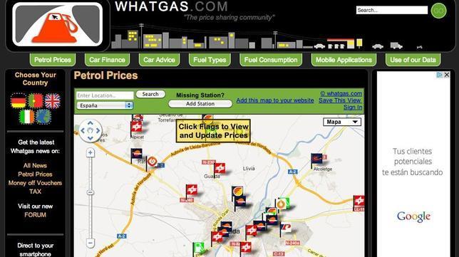 Busca gasolina barata en el móvil