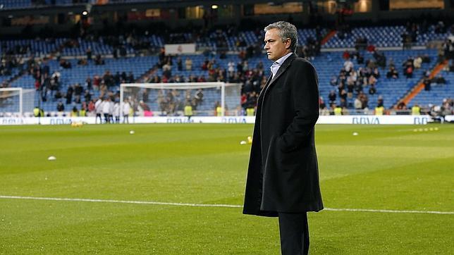 Mourinho, en el Bernabéu.