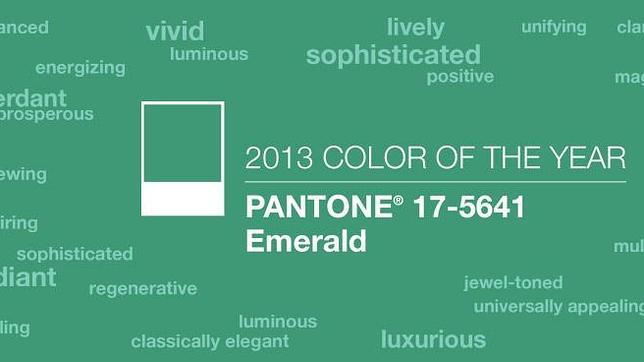 El color oficial del 2013 es el verde esmeralda
