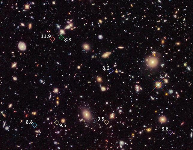 El Hubble descubre las galaxias más lejanas y antiguas del Universo