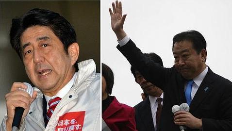 Shinzo Abe y Yoshihiko Noda se disputan el Gobierno nipón