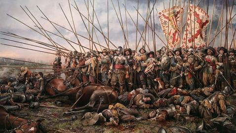 Representación de un tervio en batalla