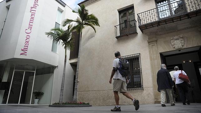 Exterior del Museo Carmen Thyssen, en Málaga