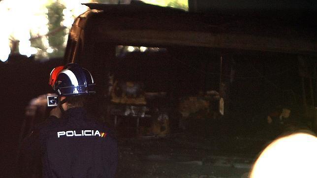 Nueve ambulancias quemadas y ocho heridos leves en Puertollano