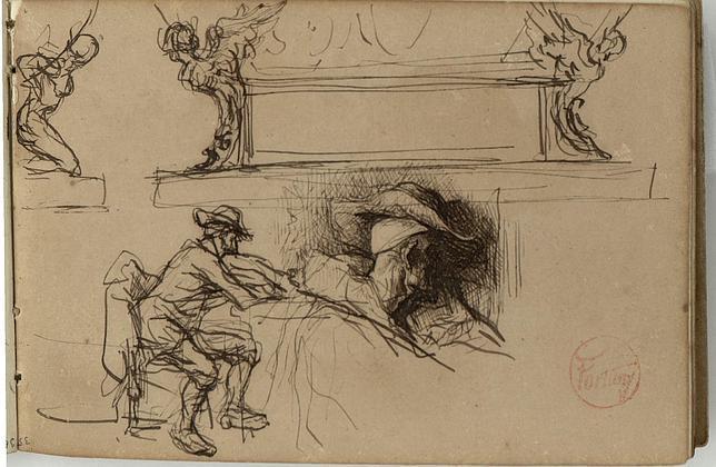 El MNAC expone una selección de dibujos y grabados digitalizados de Fortuny