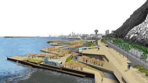 Medio ambiente dice s al proyecto de la playa de valleseco for Piscina municipal los cristianos