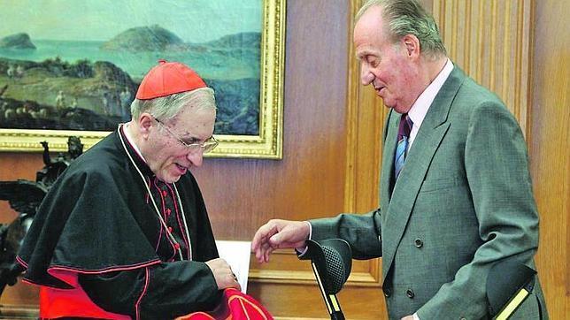 El cardenal Rouco ve en el Rey «motivos de inspiración para mirar adelante con fortaleza»