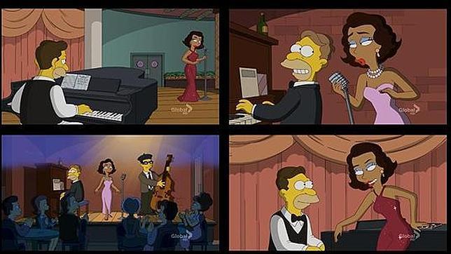 Los Simpsons homenajean a «Chico y Rita»