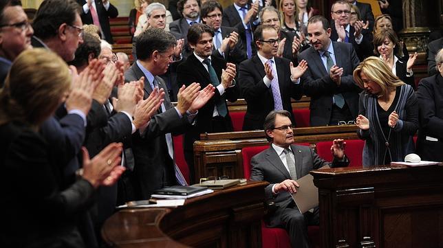 CiU y ERC quieren que el Parlament declare a Cataluña «sujeto político»