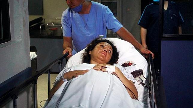 Salud Romero, en el momento en el que iba a dar a luz a sus seis hijos: cuatro niños y dos niñas