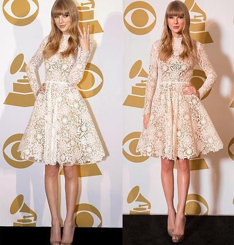 Taylor Swift con vestido de Maria Lucia Hohan