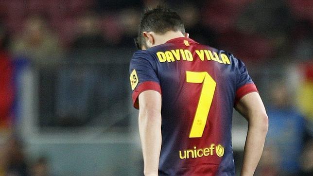 Villa será baja ante el Málaga