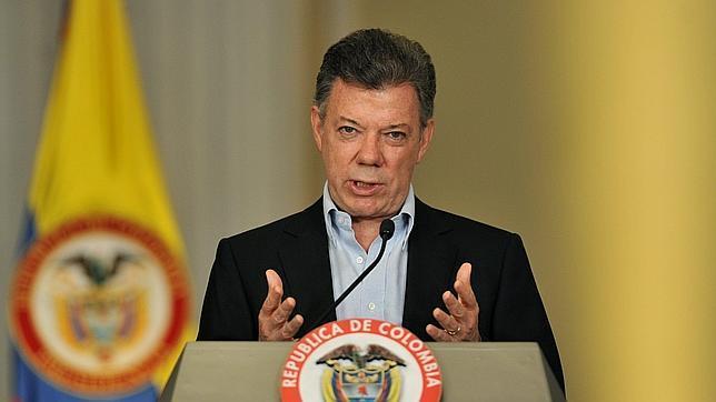 Juan Manuel Santos, en una reciente rueda de prensa en Bogotá