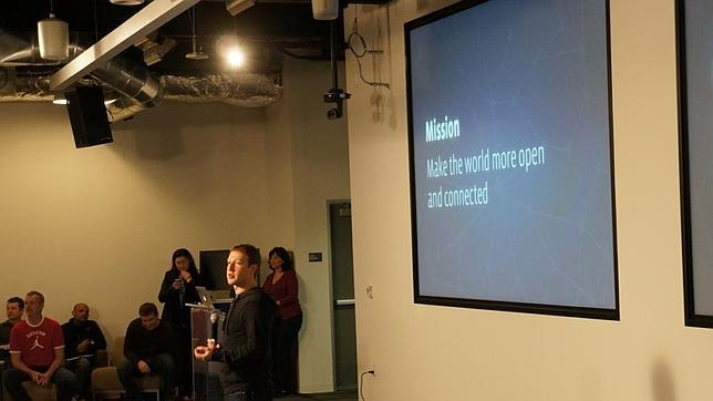 Zuckerberg en la presentación