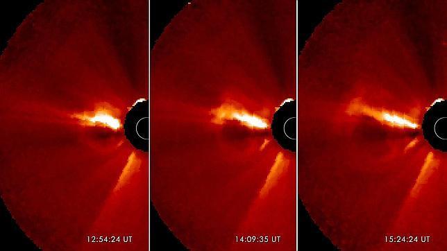 La mancha solar gigante dispara contra la Tierra