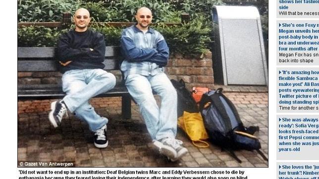 Unos gemelos belgas sordos recurren a la eutanasia tras diagnosticarles una enfermedad ocular degenerativa