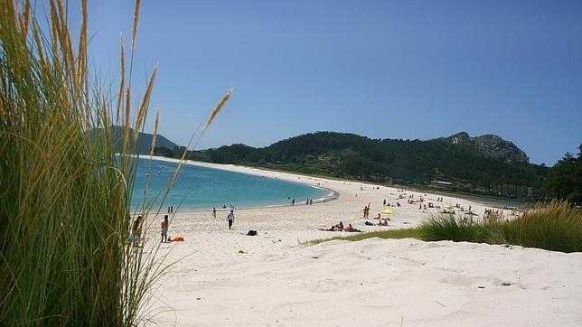 Panorámica de la playa de Rodas, en las islas Cíes