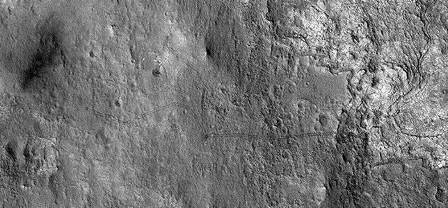 Las huellas del Curiosity, visibles desde la órbita de Marte