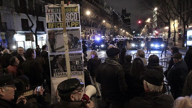 Protestas en la plaza de Colón