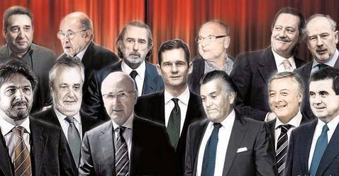 Protagonistas de recientes casos de corrupción