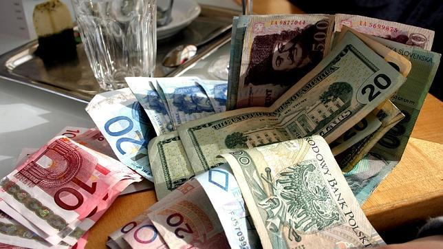 Zlotys, euros y dólares