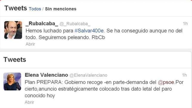Rubalcaba se vanagloria de que el Gobierno prorrogue la ayuda a los parados