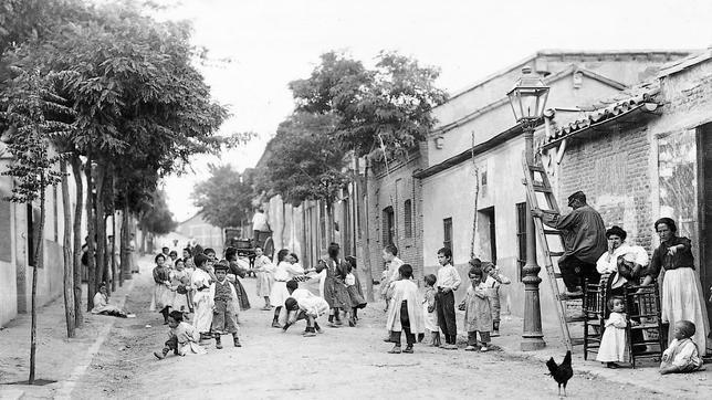 Una calle del barrio de Prosperidad, en julio de 1906
