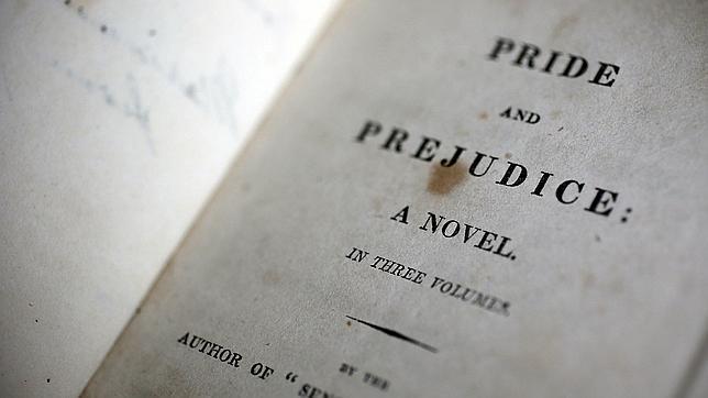 Imagen de una primera edición de «Orgullo y prejuicio», de Jane Austen