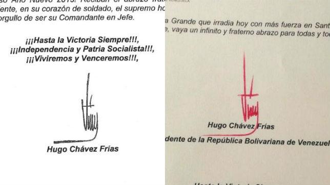 La firma de Chavez debería tener características de una persona enferma