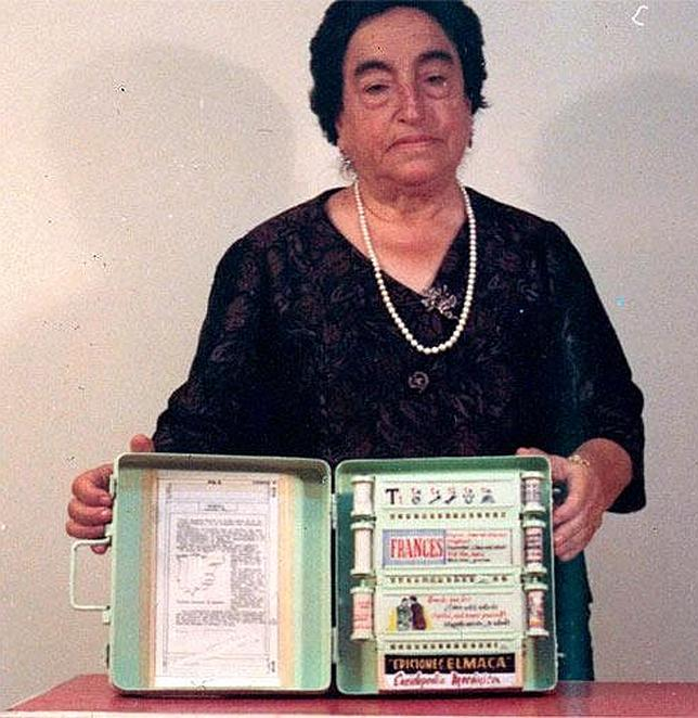 Una gallega ideó un lector de e-books en 1949