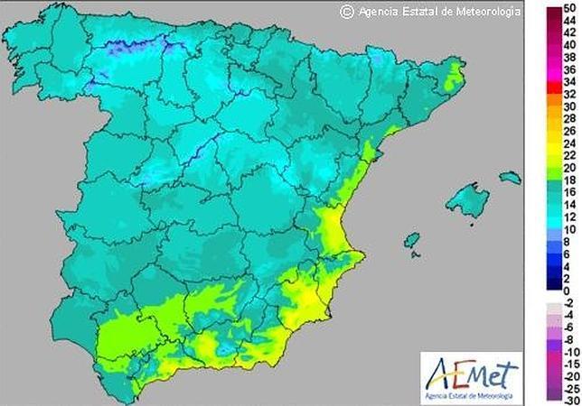 España disfrutará de un «veranillo» hasta el jueves