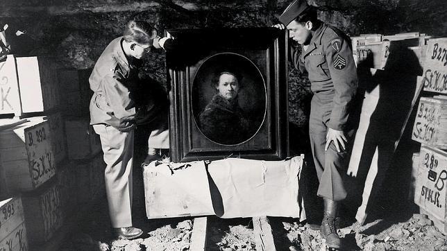ALgunas obras, como este Rembrandt, aparecieron en una mina de sal después de la guerra