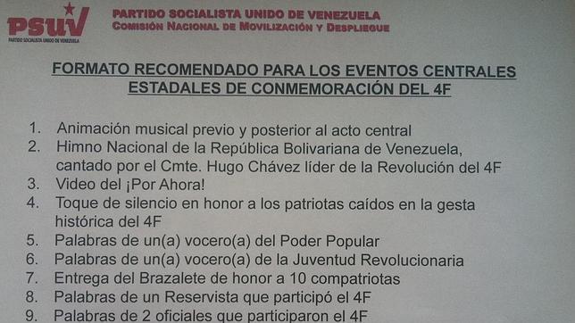 Sin mensaje de Chávez en el aniversario de su golpe