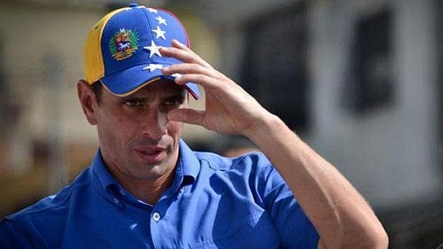 Capriles con su gorra, durante la pasada campaña electoral