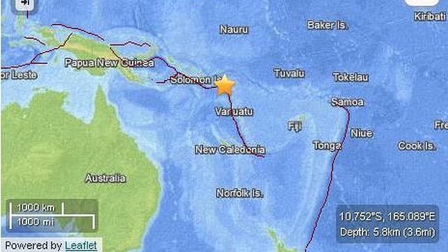 Al menos cinco muertos tras un tsunami en las Islas Salomón