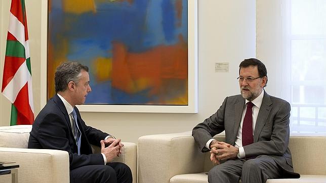 El lendakari y el presidente del Gobierno durante su reunión en Moncloa