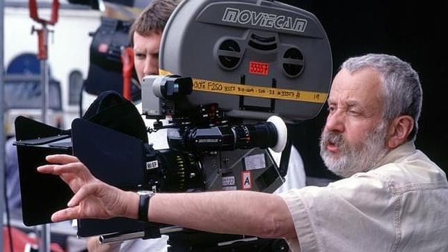 Mike Leigh, durante un rodaje