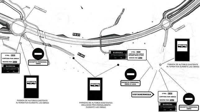 Desde este lunes, la N-403, entre La Legua y el Hotel Beatriz, estará cortada 5 meses