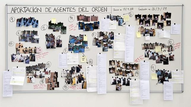 Trabajo de Nuria Güell expuesto en el estand de la galería ADN de Barcelona