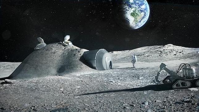Europa quiere imprimir una base lunar en 3D