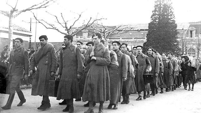 Soldados de la División Azul en el frente ruso